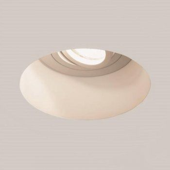 Astro 7343 Blanco Round Adjustable Ceiling Light in White Plaster | Astro Ceiling Lights | Arrow Electrical