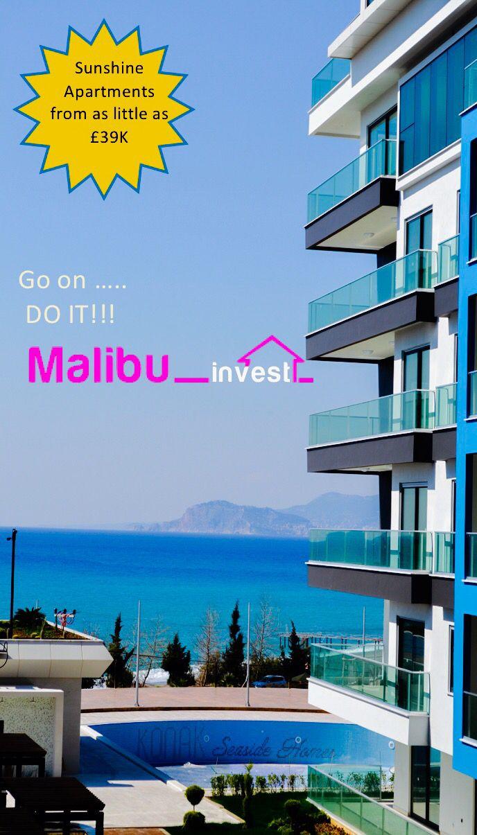 Потрясающие апартаменты прямо у моря. Malibu İnvest Real Estate, Алания, Турция  может найти апартаменты вашей мечты. #Недвижимость#Махмутлар#Алания#Турция#