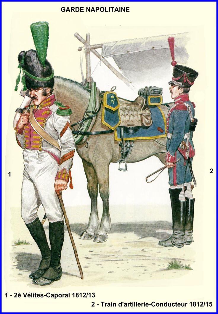 Regno di Napoli - Caporale dei voltiguers, 1812-13 - Conducente di Carro di Artiglieria, 1812-15