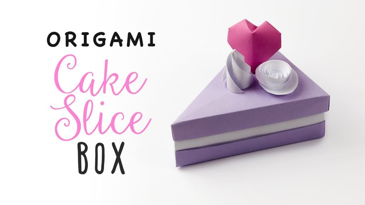 Learn how to make an origami cake slice box! The lid comes off the top, add cute origami or papercraft decorations!  ⬇OPEN ME ⬇ A lot of people suggested a ...