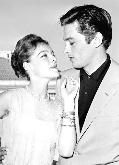 Romy Schneider and Alain Delon at the Festival de Cannes, May 26, 1962