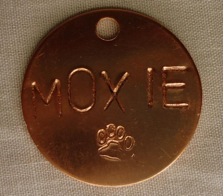 Stamped copper tag
