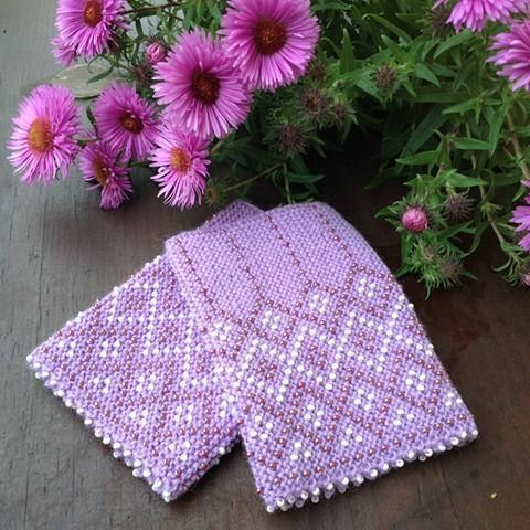 Very beautiful hand-knitted wrist warmers in violet color - made from merino wool - with glass beads. This item will be a great addition to your celebration dress or a beautiful gift for your loved ones. Wrist warmers are great also for a very practical reason - if your wrists are warm than your hands are warm too. Material: 100% merino wool with Czech glass beads. Size: S/M. Length: 12cm/4.72 inches MADE TO ORDER - item will be ready to ship in 1-2 weeks. You can order wrist war...