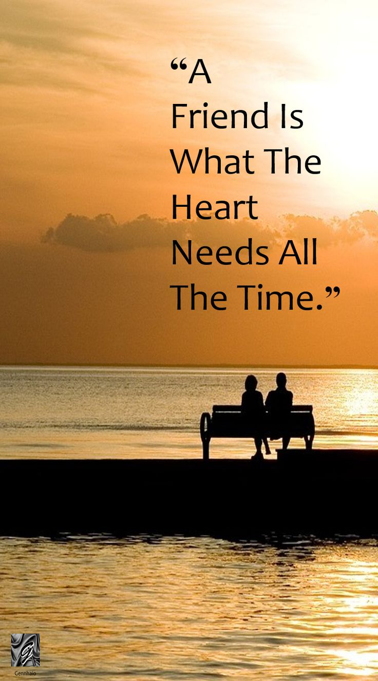 "Quotes on Friendship ""A Friend Is What The Heart Needs All The Time"