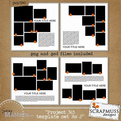 Scrapmuss Designs: MORE Project 365 Templates and a FREEBIE!