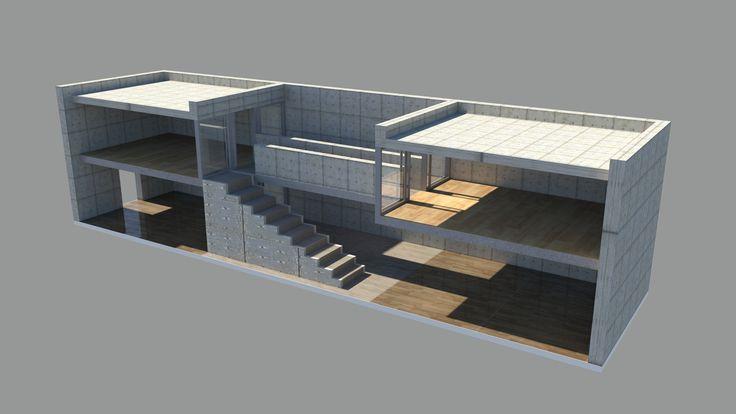 Tadao Ando Azuma House  #ando #architecture #tadao Pinned by www.modlar.com