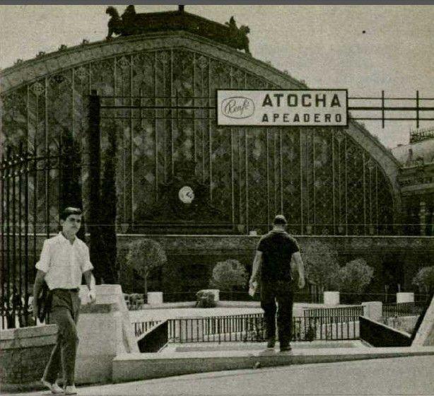 Foto antigua del Apeadero de Atocha MADRID