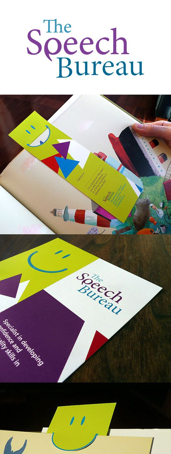 The Speech Bureau - Corporate Identity  and Bookmark. www.akgraphics.ie
