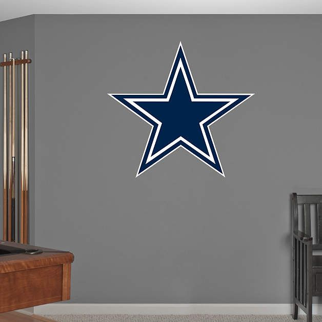 Dallas cowboys star wall mural from fathead for sam 39 s room for Cowboy wall mural