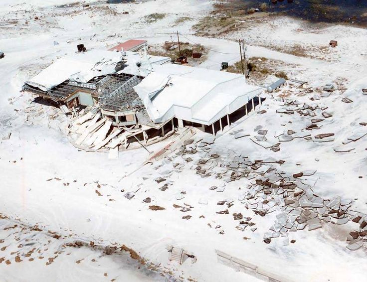 In October 1995 Hurricane Opal destroyed Eglin's Officers and Non-Commissioned Officers clubs on Okaloosa Island. Daily News file photo