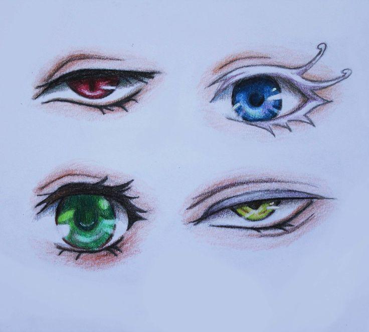 Black Butler eyes Sebastian, Doll, Lizzie, Undertaker