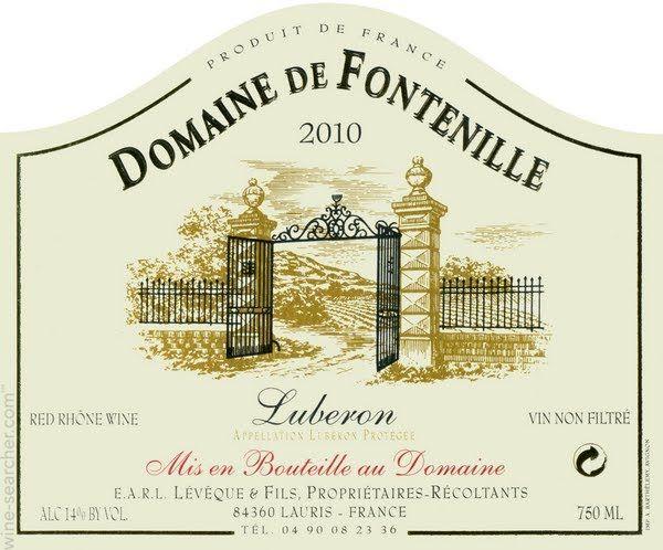 Domaine de Fontenille Cotes du Luberon, Rhone, France