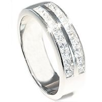 Giftering med diamanter - Per Sempre 0,60 carat prinsesseslipte diamanter - Per Sempre giftering med diamanter