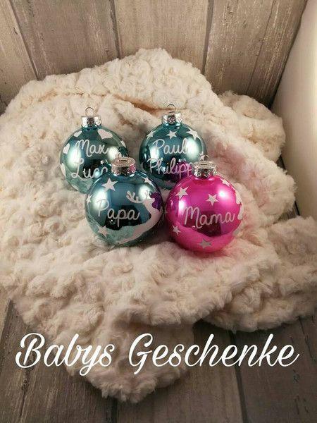 Accessoires - Weihnachtskugel mit Namen und Motiv  - ein Designerstück von BabysGeschenke bei DaWanda