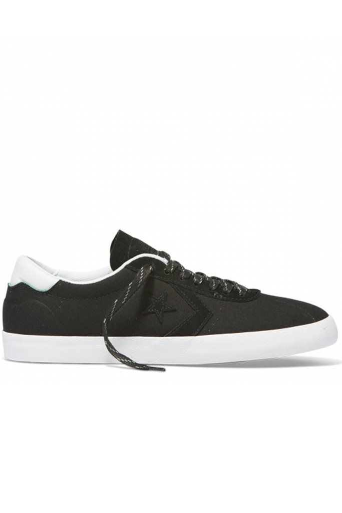 1dcf76510ba4 Converse Cons Breakpoint Pro Low Top Black White Green Glow -- Suede-backed  canvas
