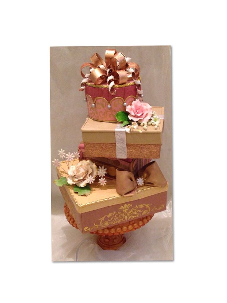 58 best giftbox cakes images on pinterest gift boxes petit giftbox cakes via craftsy negle Images