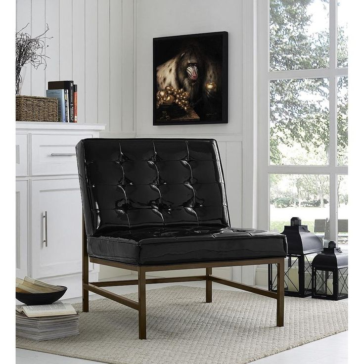 TOV Furniture Jed Patent Leather Chair