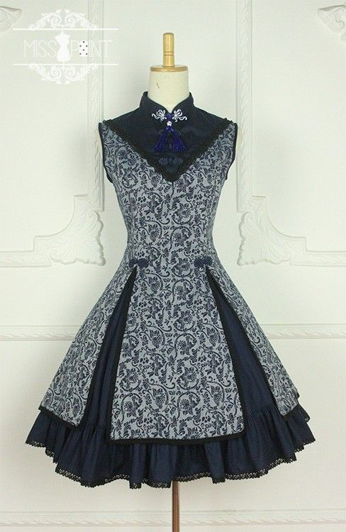 --> New Release: Miss Point ***Ode to Elegance*** ->Lotus<- Printed Qi Lolita JSK --> Custom sizing available [✂Made-to-Measure✂] --> Save 8USD till July 25th: http://www.my-lolita-dress.com/miss-point-ode-to-elegance-lotus-prints-stand-collar-qi-lolita-jumper-dress-yuan-113