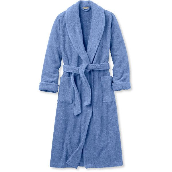 L.L.Bean Terry Cloth Robe ($79) ❤ liked on Polyvore featuring intimates, robes, terrycloth robe, terry robe, terrycloth bath robe, terry bathrobe and terrycloth bathrobe