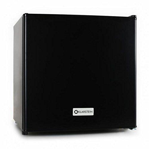 Klarstein - Mini frigo silencieux 50L - Minibar avec compartiment pour bac à glacons (acier inoxydable, 1 étagère, classe d'énergie A+) - Noir