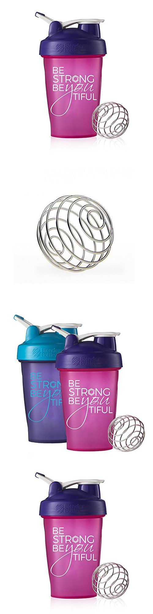 Be Strong BeYOUtiful Blender Bottle, 20oz Classic Protein Shaker Cup (Pink)
