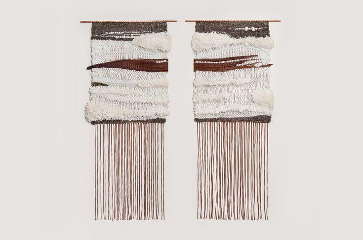 Palm Tree Bark Pair weaving by Brook & Lyn