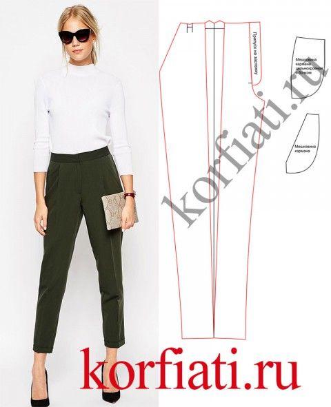 Выкройка классических женских брюк
