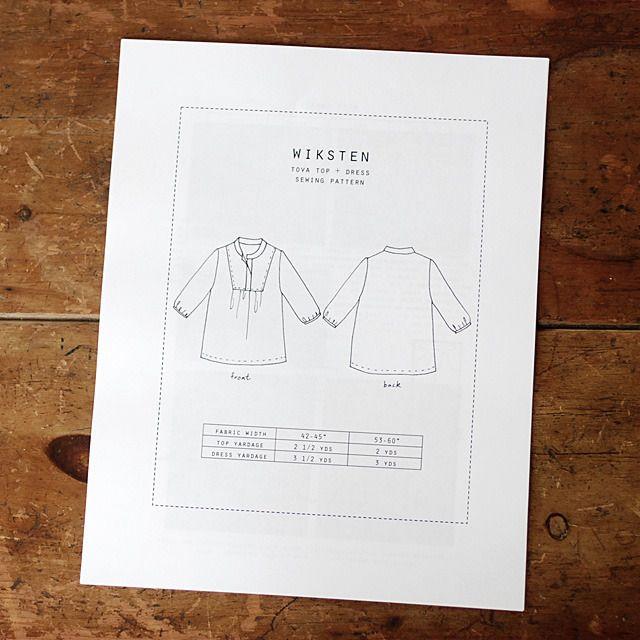 Image of Wiksten Tova Sewing Pattern Downloadable PDF