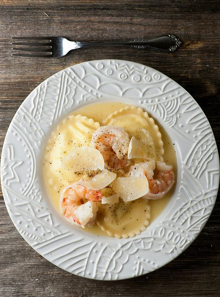 Shrimp scampi meets ravioli in this elegant and easy recipe - a match made in heaven!
