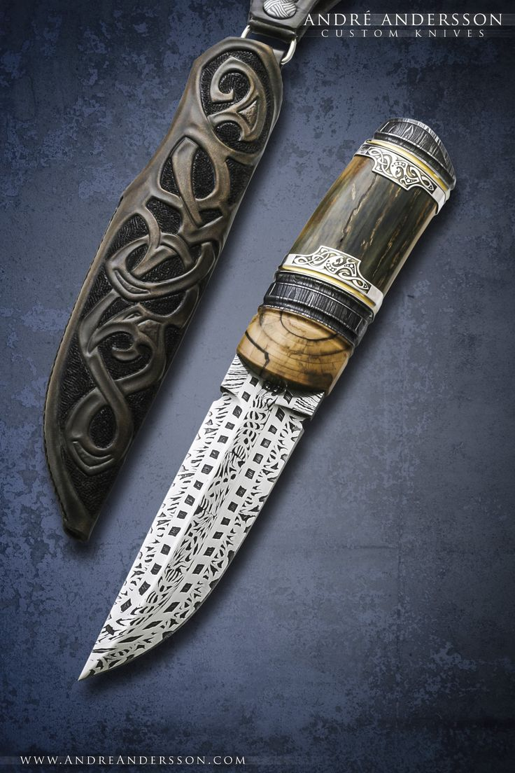Work from 2012 andr andersson custom knives