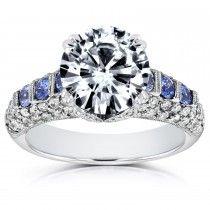 $10,000 round diamond engagement ring