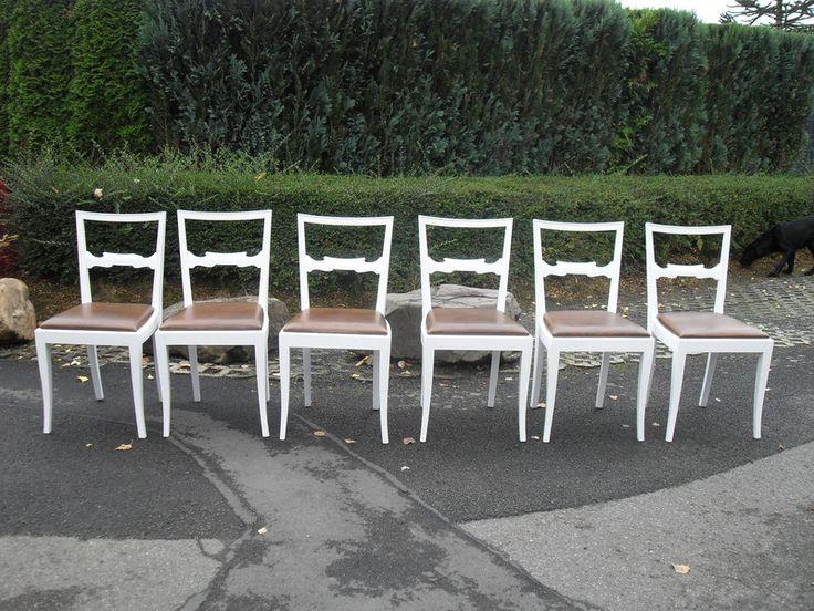 Stuhl Landhaus Holz Ein Massiv Stuhle Weiss Shabby 6stuck