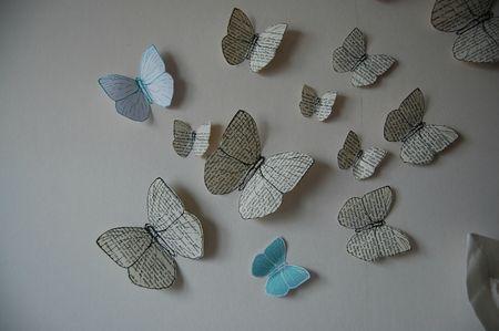 des papillons de papier hyper simple à faire ....et du plus bel effet .