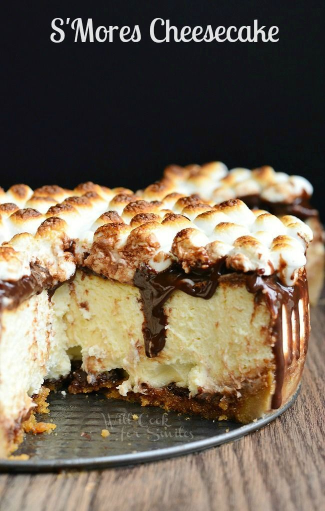 S'Mores Cheesecake Recipe | from willcookforsmiles.com