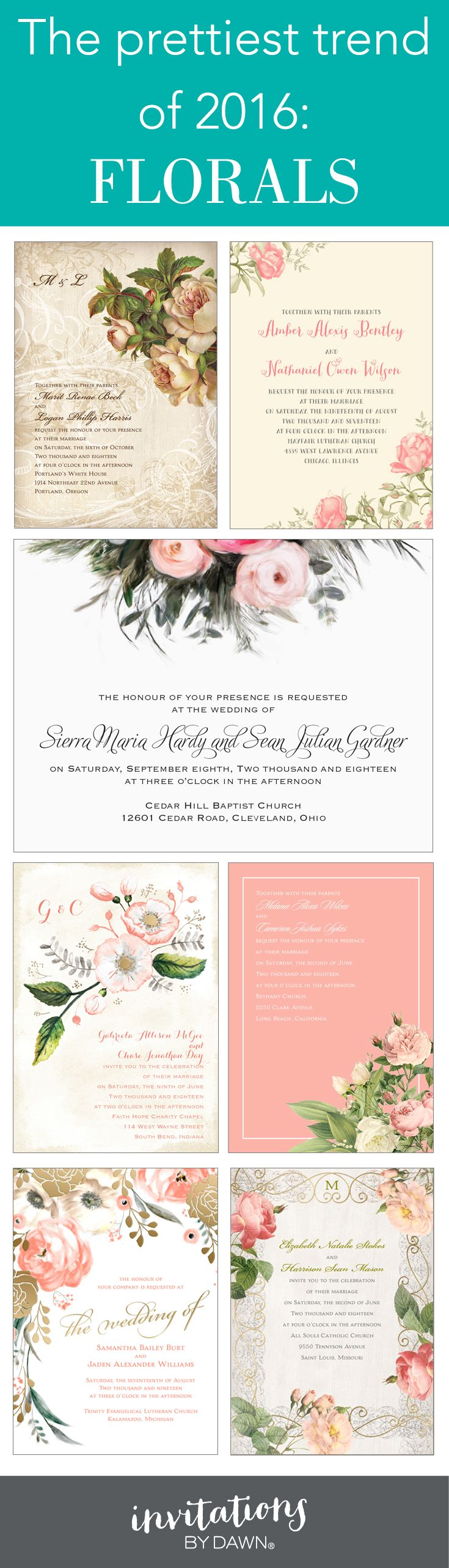 wildflower wedding invitation templates%0A Trending now  Floral wedding invitations
