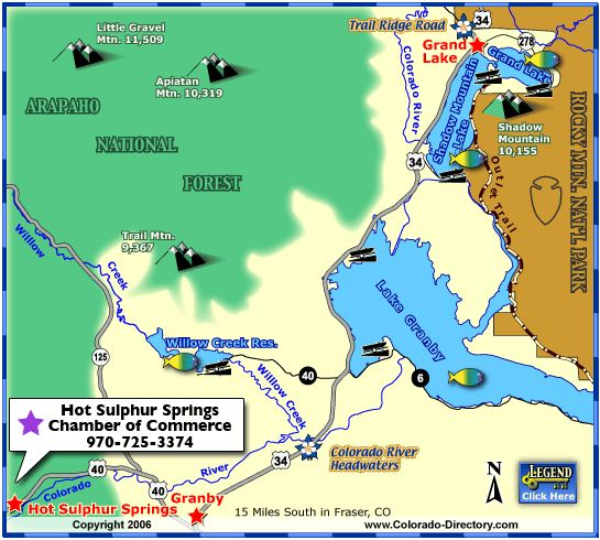 Grand Lake Fishing Map