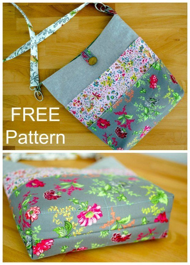FREE tote bag sewing pattern. This simple tote bag is quick and easy to sew and …