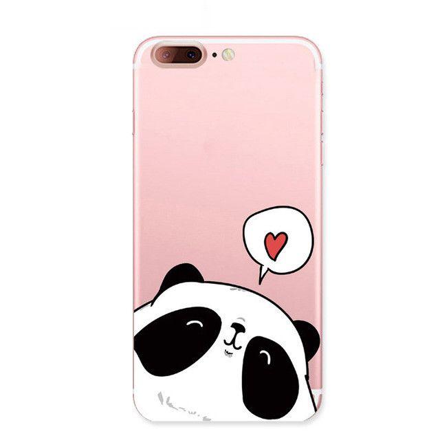 Cute Cartoon Animal Panda back cover For Apple Iphone 7 case Lovely pandas