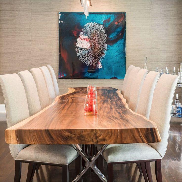 [repost] Statement artwork in a Kim Radovich designed dining room.  .⠀ ⠀ .⠀ .⠀ #kimradovich #interiordesign #art #class #neutrals #blue #organics #yellow #white #homeinteriors #homedesign #livingroom #livingroomdesign #instadecor #decor #interiorstyling #interiordesignideas #artlife #modernart #light #lighting #diningroom #diningroomdecor #diningroominspo #wetbar #sculpture #interiorsculpture