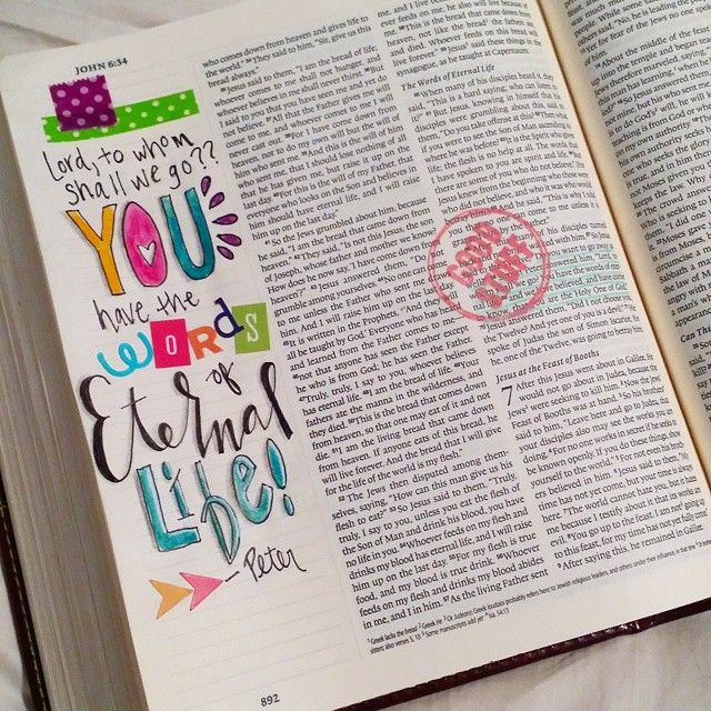 """""""Jesus has the words of Eternal Life! I've been studying John but the words of Peter always leap out to me. I love his enthusiasm and willingness to follow…"""""""