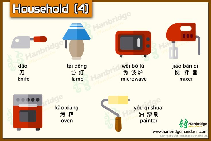 Chinese vocabulary about household-part 4