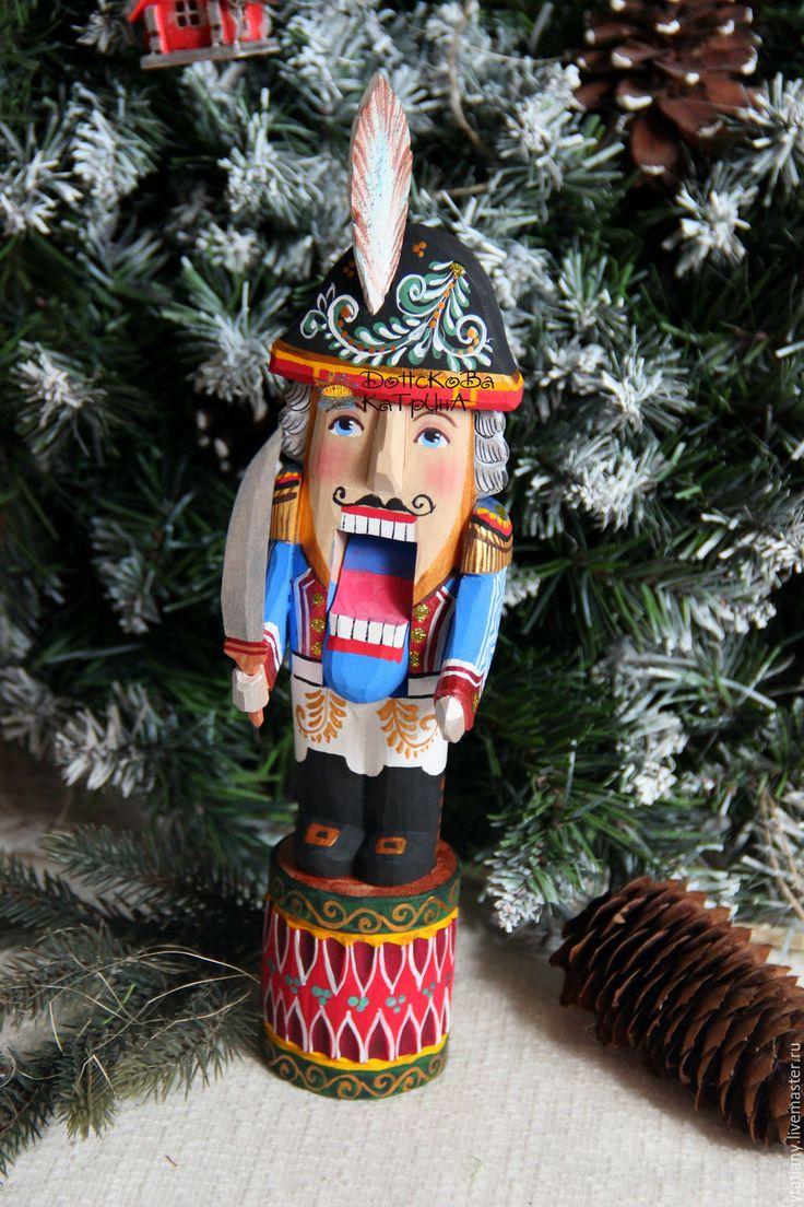 Купить Щелкунчик (резная расписная деревянная игрушка) - щелкунчик, рождественский подарок, подарок на новый год