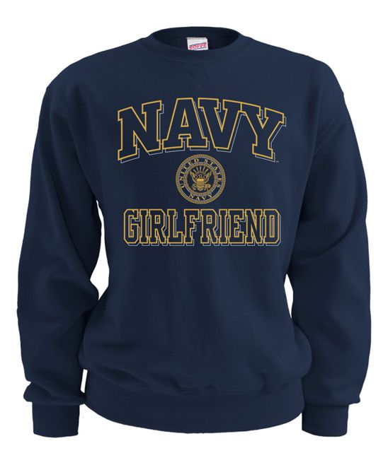 US Navy Blue 'Navy Girlfriend' Sweatshirt - Women & Plus