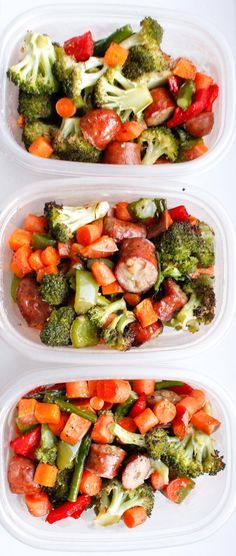 This recipe for One Pan Sausage and Vegetables Meal Prep is a super easy and budget-friendly meal prep recipe for quick meals all week. Is anyone else as totally obsessed with encased meats as I am? I stock up on chicken sausages every time I go to Costco and freeze them for quick and easy...