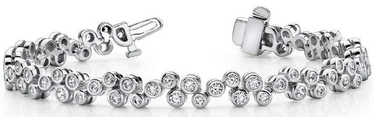 Diamantarmband mit 2.00 Karat Diamanten aus 585er Weißgold - http://www.diamantring.be/diamant-armband/diamantarmband/armband-diamant-4