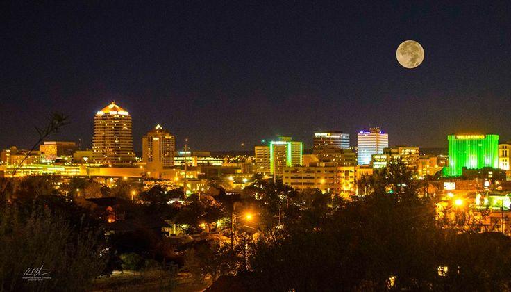 Richard Estrada  Super Moon over downtown Albuquerque before dawn this morning! 11-14-16