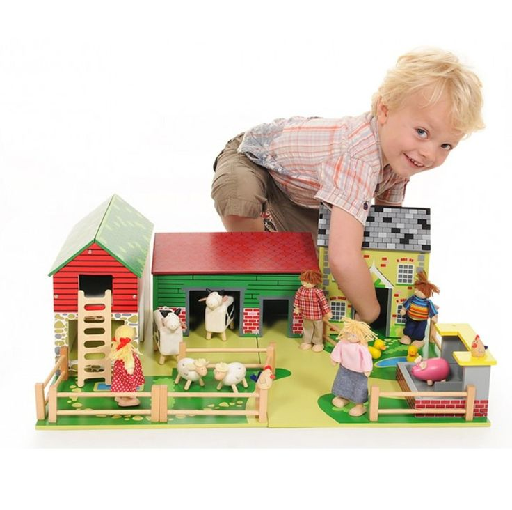 Oldfield Wooden Farm Pretend Play for Kids Role Play