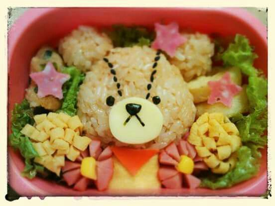 """Jackie from Japanese cartoon """"the bear's school"""". Find out more character bentos on Facebook site """"Cool& Kawaii Character Bento"""""""