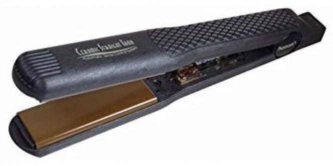 Hairart H3000 Tourmaline Ceramic Straightening Iron 1 3 8 Plug In Style And Go This 5 Tempature Cera Ceramic Iron Straighten Iron Professional Flat Irons