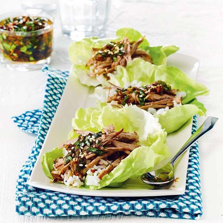 Roulades de laitue au porc à la coréenne